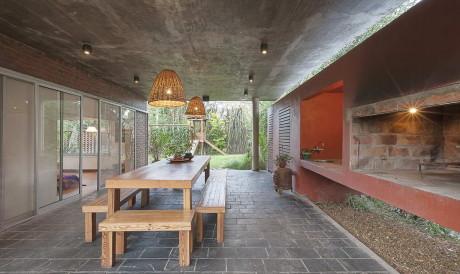 Проект одноэтажного кирпичного дома