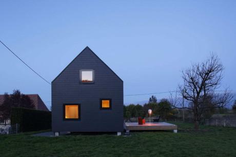 Проект современной деревянной дачи во Франции