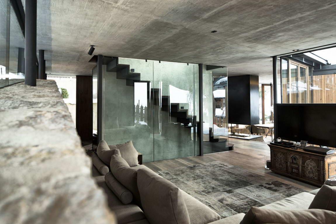 Проект дома из бетона и стекла от Нико ван дер Меллена картинки