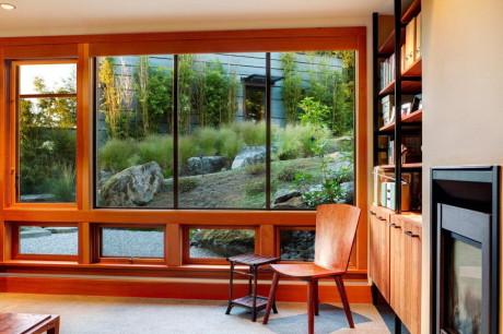 Проект современного дома на склоне в США