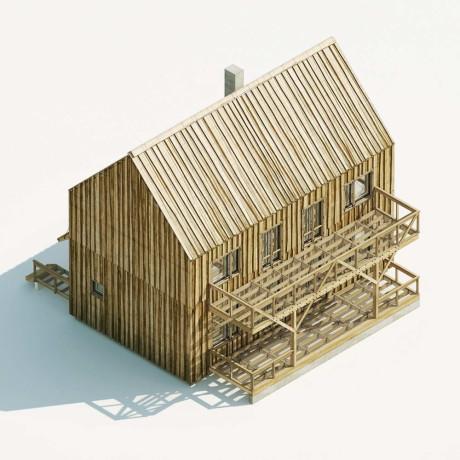 Типовой проект дома Krafthouse от архитектора Антона Кнутова.