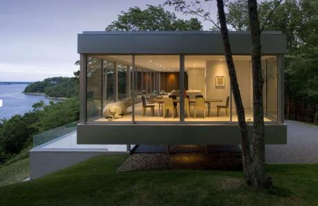 Минималистский дом на острове в США
