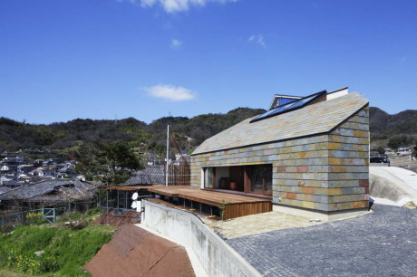 Дом на холме в Японии