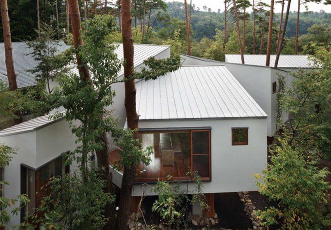 Лесной дом в Японии