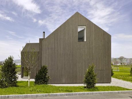 Дом Готтшальден (Haus Gottshalden) в Швейцарии от Rossetti + Wyss Architekten.