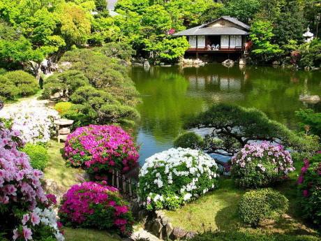 Особенности и основные элементы японского сада.