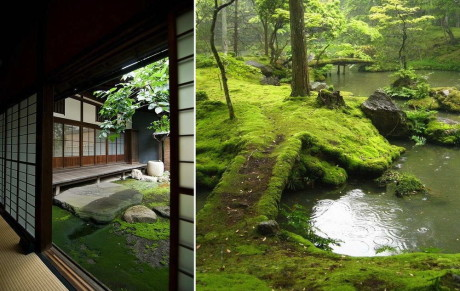 Мох в японском саду (Moss Gardens)