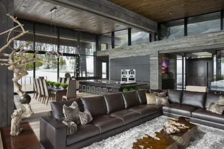 Резиденция Lower Foxtail (Lower Foxtail Residence) в США от Reid Smith Achitects и Teton Heritage Builders.