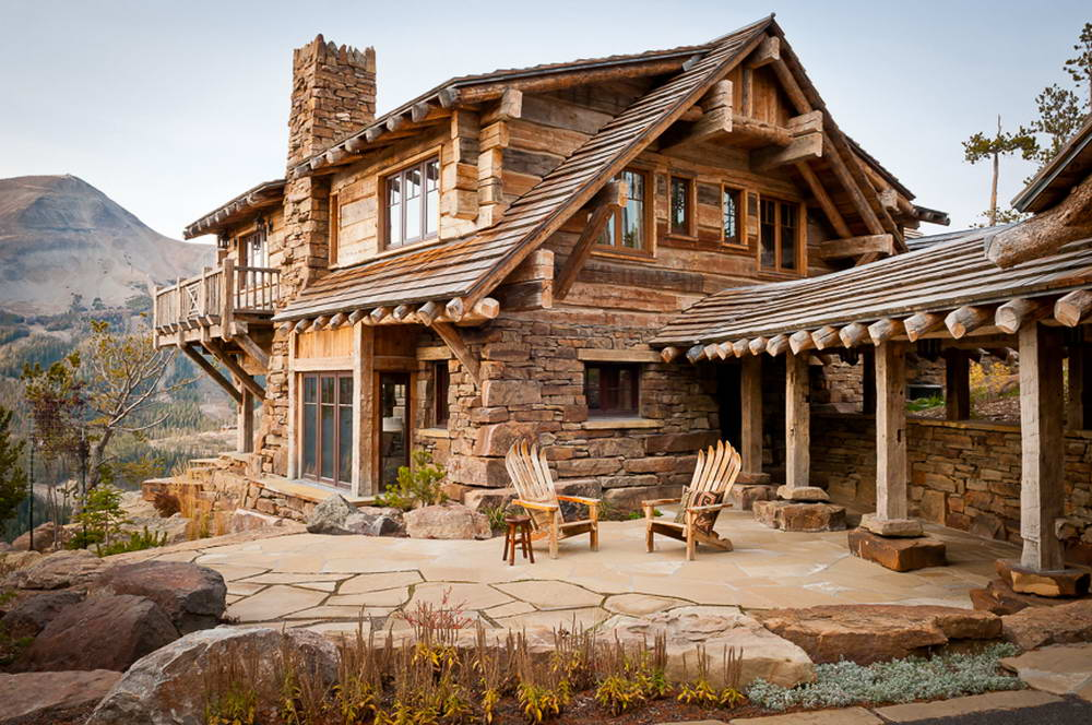 Rainbow Point Cabin 3 460x305 Шале в США 2 фасад лестница лес природа камень дерево