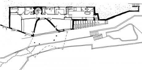 Холман Хаус. План первого этажа.