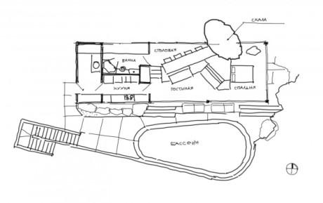 Дом II Альберта Фрея. План.