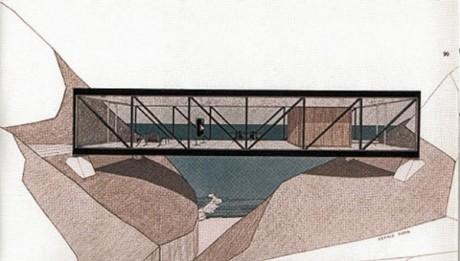 Проект виллы Bridge House. Крег Эльвуд (Craig Ellwood). Калифорния, США. 1960-е.