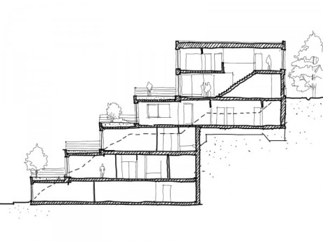 Террасный дом (Terrace House). Pavel Hnilicka Architekti . Прага, Чехия. 2007.