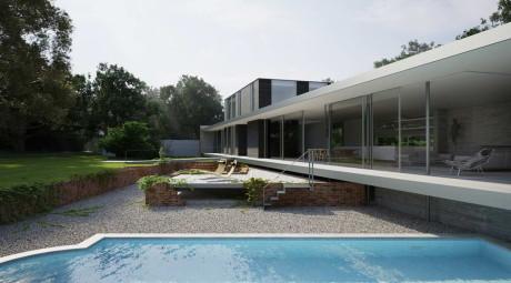 Частный дом (Private House) в Англии от Strom Architects.