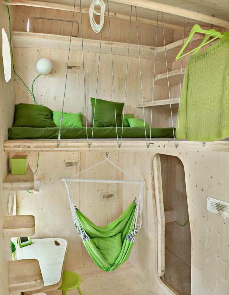 Маленький домик для студентов (Smart student unit) в Швеции от Tengbom architects.