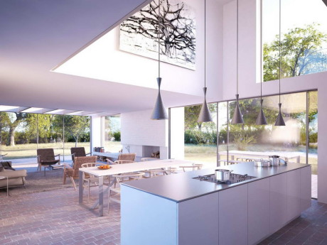 Проект модернистского дома в Англии