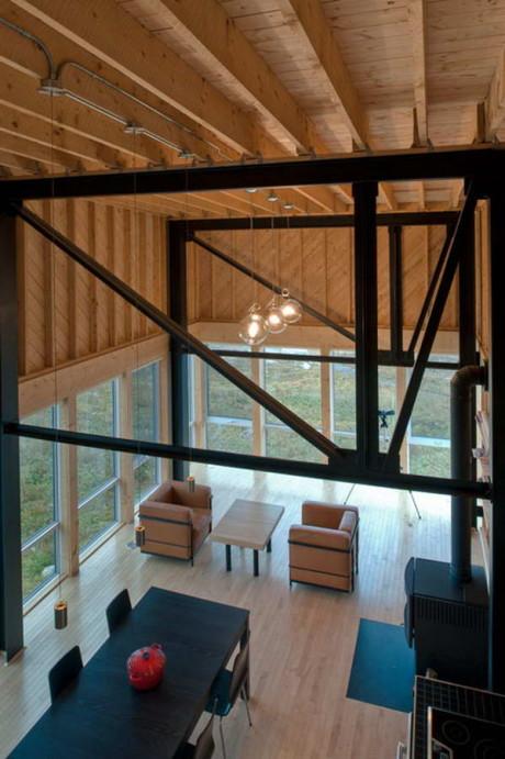 Дом на утёсе (Cliff House) в Канаде от MacKay-Lyons Sweetapple Architects.