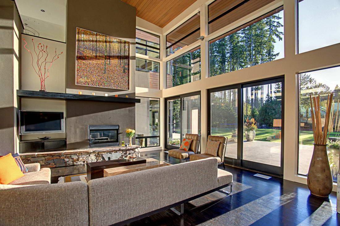 Большие окна в доме: возможности дизайна