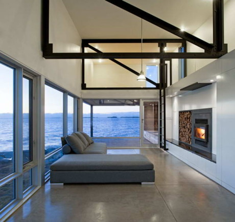 Дом Каменный закат (Sunset Rock House) в Канаде от MacKay-Lyons Sweetapple Architects.