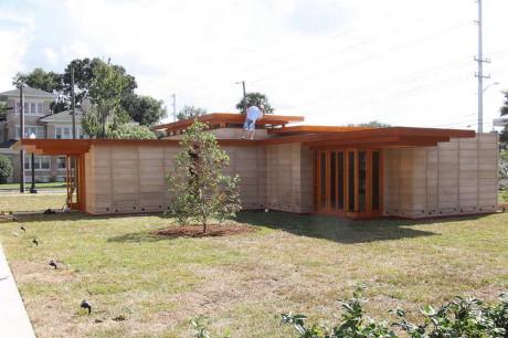 Дом Усониан (Usonian House) в США от Фрэнка Ллойда Райта (Frank Lloyd Wright).