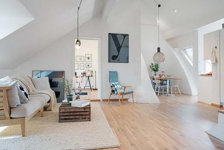 Квартира на чердаке в Швеции