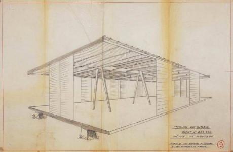 Быстровозводимый дом (Prefab maison demontable 8x8) во Франции от Jean Prouve.