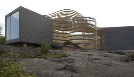 Деревянный павильон в Финляндии