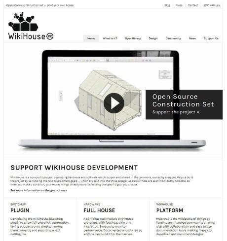 Сайт WikiHouse