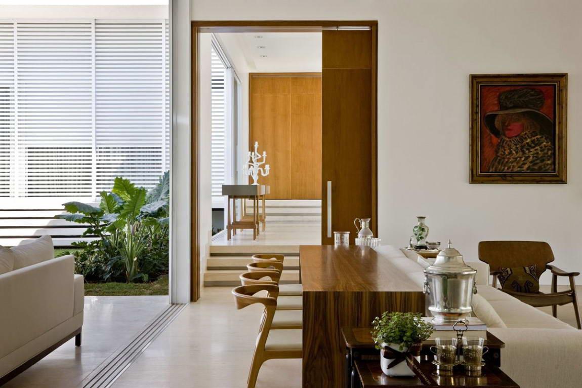 Casa do Patio 12 135x135 Дом вокруг двора в Бразилии минимализм декор двор