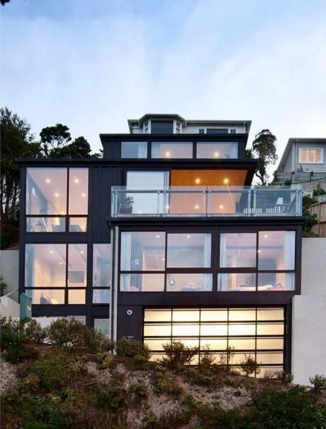 Городской дом на склоне в Новой Зеландии