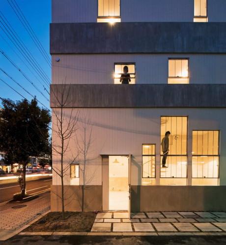 Городской дом для художника в Японии