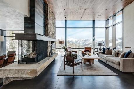 Современный Горный Дом (Modern Mountain) в США от Pearson Design Group.