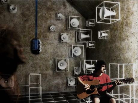 Дом для Pink Floyd (Uma Casa para o Pink Floyd) от Arqbauraum.