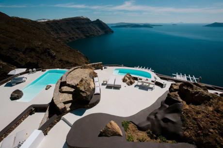 Виллы Aenaon (Aenaon Villas) в Греции от Giorgos Zacharopoulos.