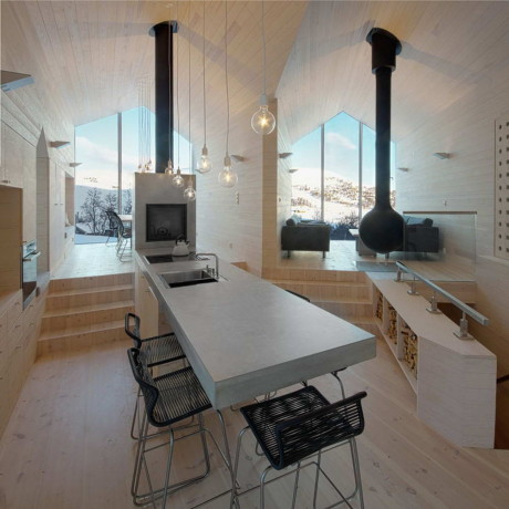 Дом для отдыха (Holiday Home Havsdalen) в Норвегии от Reiulf Ramstad Arkitekter.