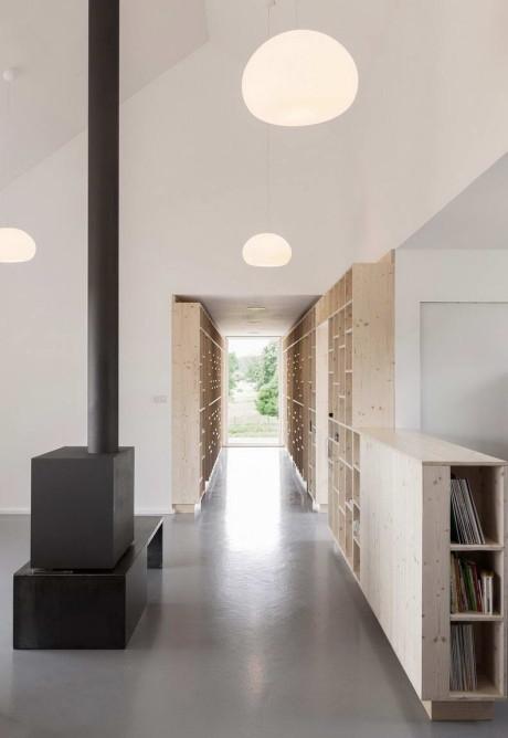 Дом Симон (Maison Simon) во Франции от Mathieu Noel & Elodie Bonnefous architectes.