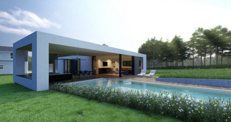 Проект минималистского дома в США