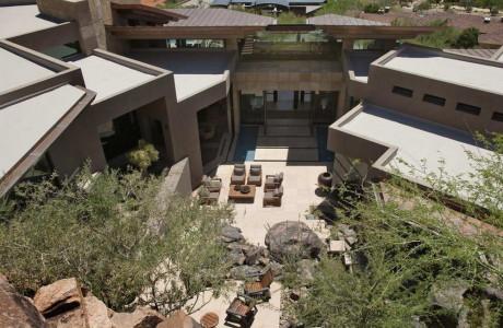 """Резиденция """"Медное небо"""" (Copper Sky Residence) в США от Swaback Partners."""