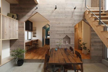Интерьер современного дома в Японии
