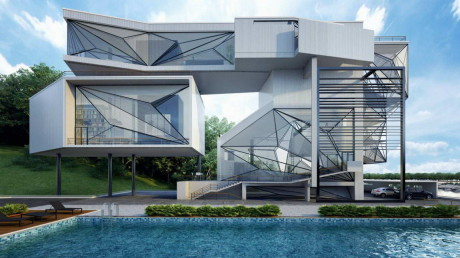 Проект современного жилого дома в США