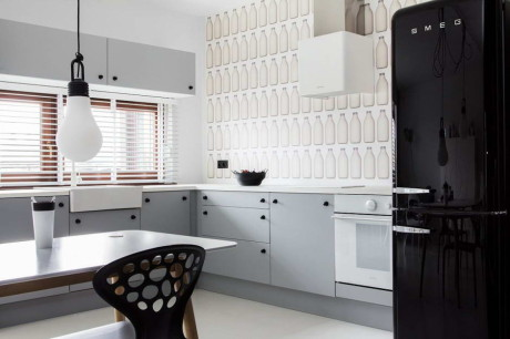 Чёрно-белая квартира в Польше