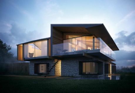 Проект современного дома в Уэльсе