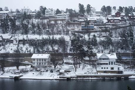 Блокированный дом в Норвегии