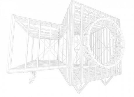 Дом для одного человека (One Man House II) во Франции от Marchi Architects.