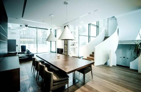 Дом Прямоугольный параллелепипед (Rectangle Parallelepiped House) в Литве от Devyni Architektai.