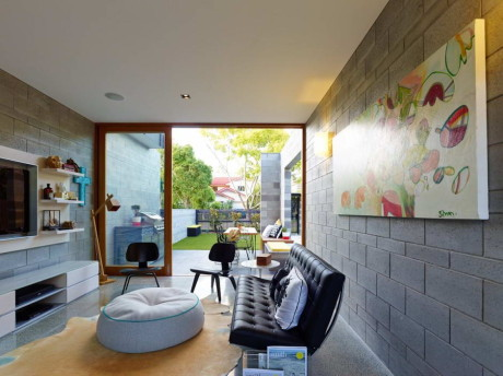 Террасный дом (Terraced House) в Австралии от Shaun Lockyer Architects.