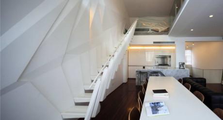 Квартира на Wulumuqi Road (Wulumuqi Road Apartment) в Китае от SKEW Collaborative.