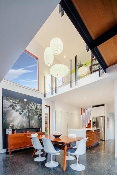 Дом двойной высоты (Double High House) в Канаде от Checkwitch Poiron Architects Inc.