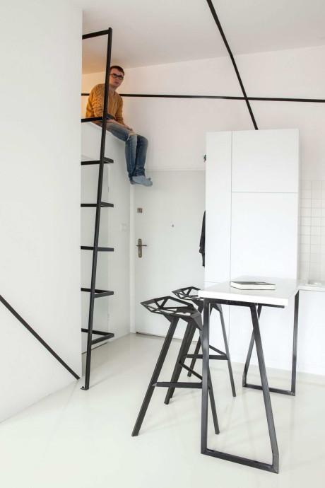 Минималистский апартамент (Minimalist Apartment in Lazarz) в Польше от Mili Mlodzi Ludzie.