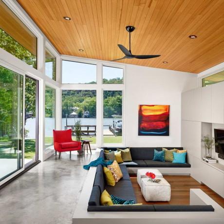 Дом у озера (Ski Shores Lakehouse) в США от Stuart Sampley Architect.